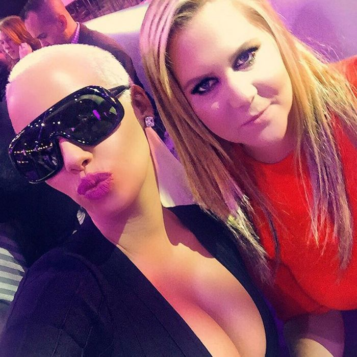 Pals Amber Rose and Amy Schumer.
