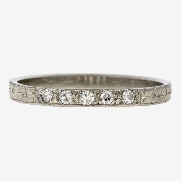 Doyle & Doyle Vintage Diamond Wedding Band Ring