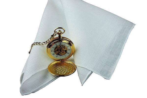 Thomas Ferguson Men's Linen Corded Handkerchiefs With Hand Rolled Hem (Set of 2)