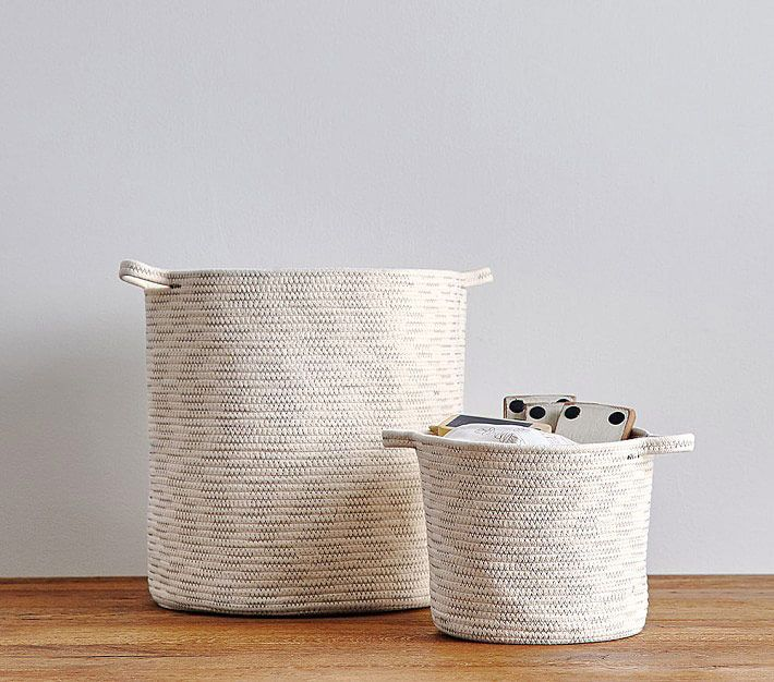 Natural Sloan Cotton Rope Storage