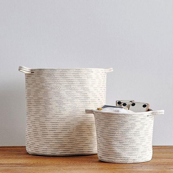 Pottery Barn Kids Natural Sloan Cotton Rope Storage