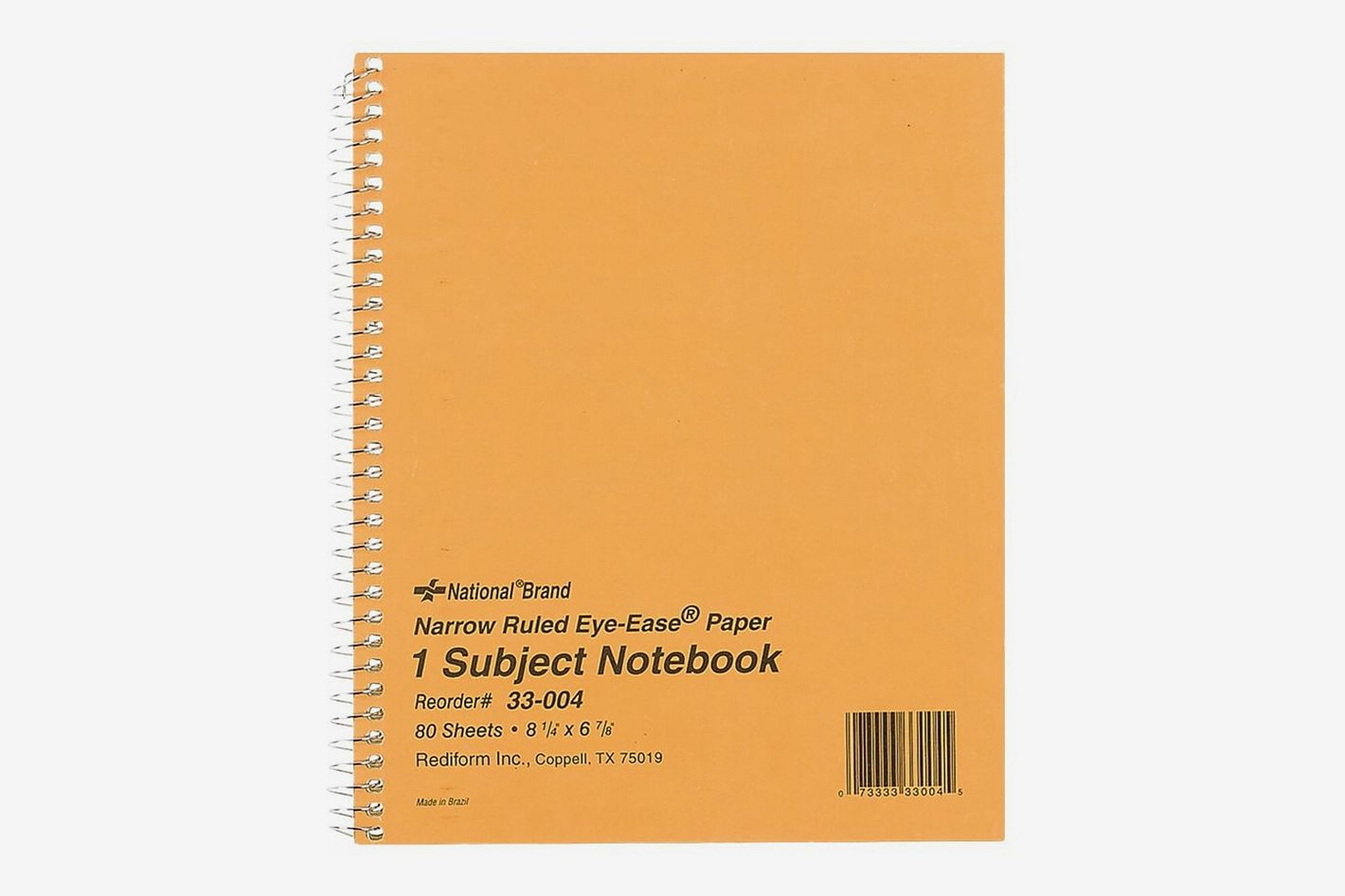 National Brand 1-Subject Notebook