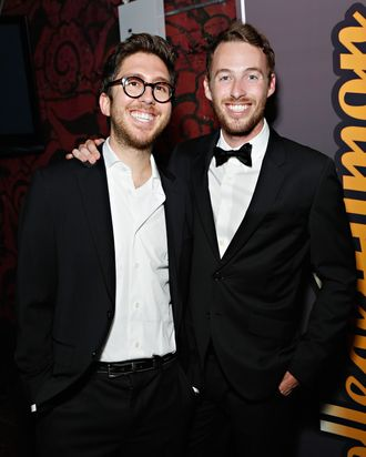 NEW YORK, NY - AUGUST 08: Amir Blumenfeld and Jake Hurwitz attend CollegeHumor Offline Annual Production at Gramercy Theatre on August 8, 2013 in New York City. (Photo by Cindy Ord/Getty Images)