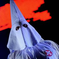 A member of the Ku Klux Klan dance ensem