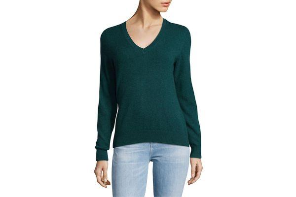 Vintage V-Neck Cashmere Sweater