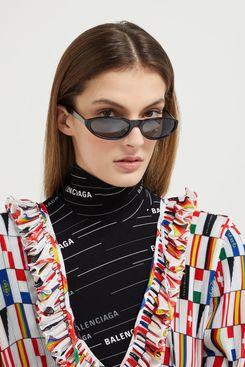 Balenciaga Neo Mirrored Oval Acetate Sunglasses