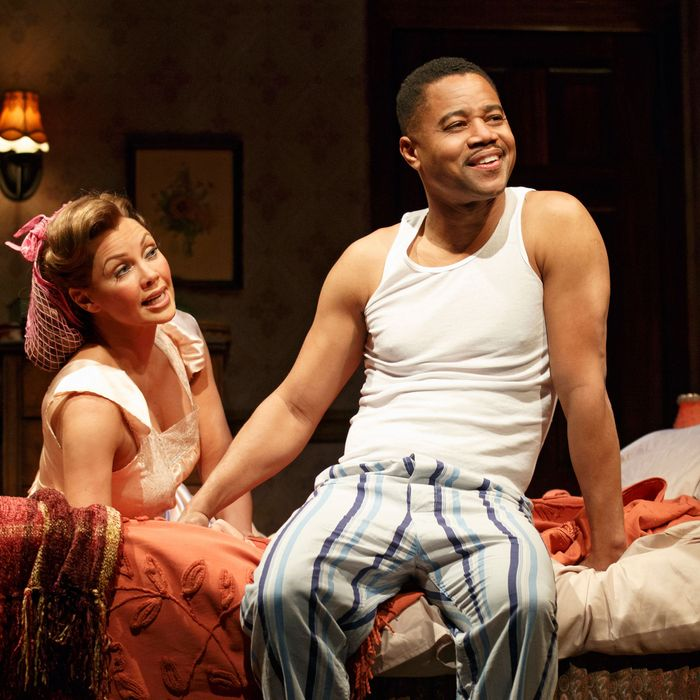 Vanessa Williams and Cuba Gooding Jr. in The Trip to Bountiful at the Stephen Sondheim Theatre.
