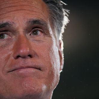 MIAMI, FL - SEPTEMBER 19: Republican presidential candidate, former Massachusetts Gov. Mitt Romney speaks during a Juntos Con Romney Rally at the Darwin Fuchs Pavilion, on September 19, 2012 in Miami, Florida. Romney continues to campaign for votes around the country. (Photo by Joe Raedle/Getty Images)