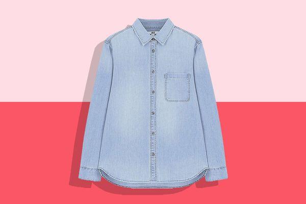 Uniqlo Long-Sleeved Denim Shirt