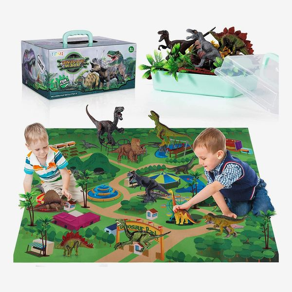 Dinosaur Toy Figures and Mat
