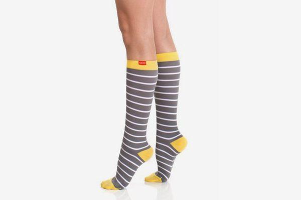 VIM & VIGR Stylish Compression Socks Nautical Stripes