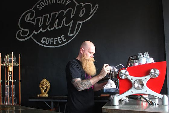 "St. Louis  <i>3700 S. Jefferson Ave.; <a href=""http://www.sumpcoffee.com/"">sumpcoffee.com</a></i>  Owner Scott Carey models Sump after a wine bar, highlighting the terroir, origin, and processing of seasonal, single-origin coffee. Carey roasts the coffee light — Scandinavian-roast style — and carries predominantly natural or dry-processed coffees to enhance the flavor of fruit. He also boasts one the most impressive beards in the coffee industry, which is no small feat.  <b>What to Order:</b> A cup of Kyoto-styled brewed coffee, or an espresso that's pulled using the Slayer machine."