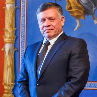 King Abdullah II of Jordan meets with members of the US Senate Appropriations Committee at the U.S. Captiol in Washington, DC on February 03, 2015.