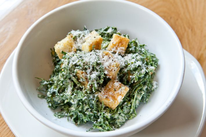 Kale salad with Caesar dressing at Untitled.