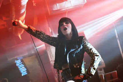 AUSTIN, TX - MARCH 15:  Alexis Krauss of Sleigh Bells performs at the Myspace Secret Shows at 2013 SXSW Presented by Chevrolet at the Copper Tank Events Center on March 15, 2013 in Austin, Texas.  (Photo by Jason Kempin/Getty Images for Myspace)