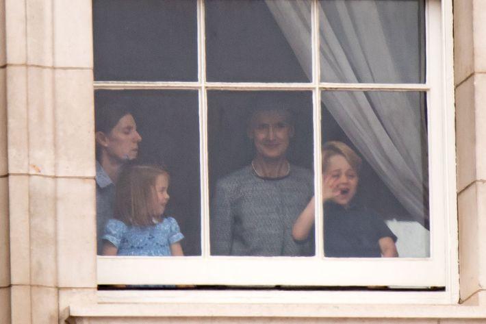 Princess Charlotte and Prince George.