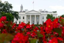 The North Portico of the White House is seen from Lafayette Park on August 5, 2013 in Washington, DC.