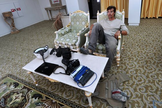 A photo taken on September 29, 2011 shows US freelance reporter James Foley resting in a room at the airport of Sirte, Libya. Foley was kidnapped in war-torn Syria six weeks ago and has been missing since, his family revealed on January 2, 2013. Foley, 39, an experienced war reporter who has covered other conflicts, was seized by armed men in the town of Taftanaz in the northern province of Idlib on November 22, according to witnesses. The reporter contributed videos to Agence France-Presse (AFP) in recent months.