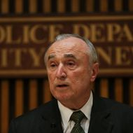 NEW YORK, NY - FEBRUARY 25: New York Police Commissioner Bill Bratton speaks at a news conference where he discussed the arrest of three Brooklyn men who allegedly plotted to travel to Syria to join ISIS on February 25, 2015 in New York City. The men, two Uzbekistan citizens and a 19-year-old Kazakhstan citizen,all lived in Brooklyn and were corresponding with the terrorist group over social media. (Photo by Spencer Platt/Getty Images)