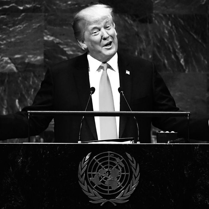 President Donald Trump at the U.N. General Assembly.