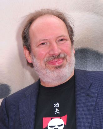 HOLLYWOOD, CA - MAY 22: Composer Hans Zimmer arrives at DreamWorks Animation's