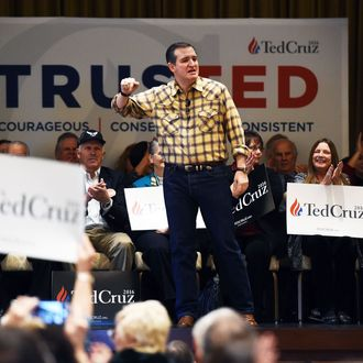 GOP Presidential Candidate Ted Cruz Starts A Super Tuesday States Swing In Las Vegas