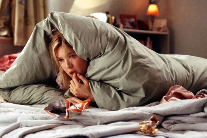 Renée Zellweger as Bridget Jones.