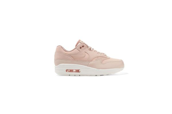 NIKE Air Max 1 Premium suede-trimmed leather sneakers
