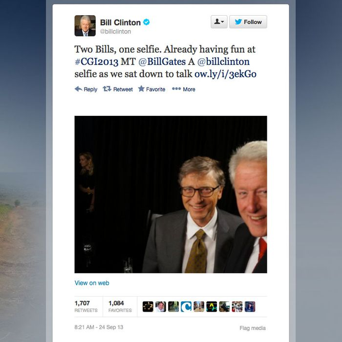 Bill Clinton Seems To Have Made A Two Girls One Cup Reference On Twitter