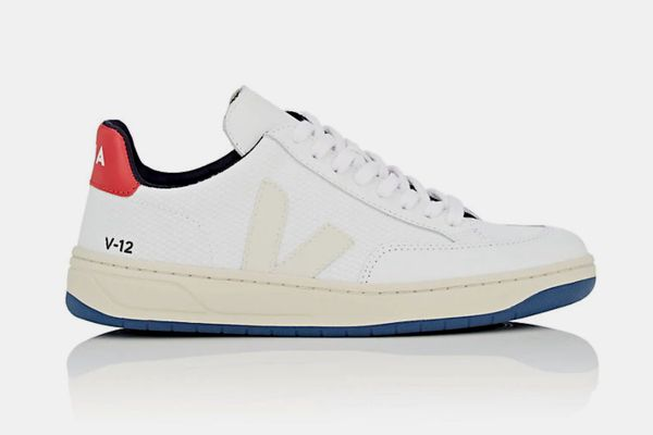 Veja V-12 Mesh & Leather Sneakers