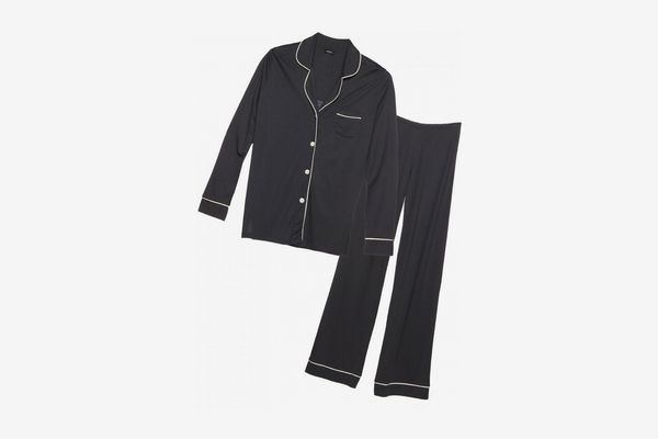 Cosabella Bella Satin-Trim Long-Sleeve Pajama Set