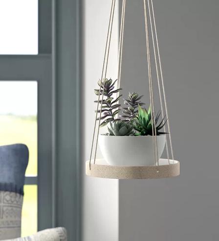 Jakobe Stoneware Hanging Planter
