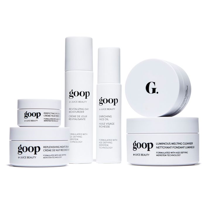 The debut Goop skincare lineup.