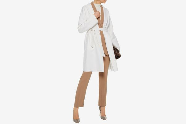 Max Mara Nancy Belted Wool and Angora-Blend Coat
