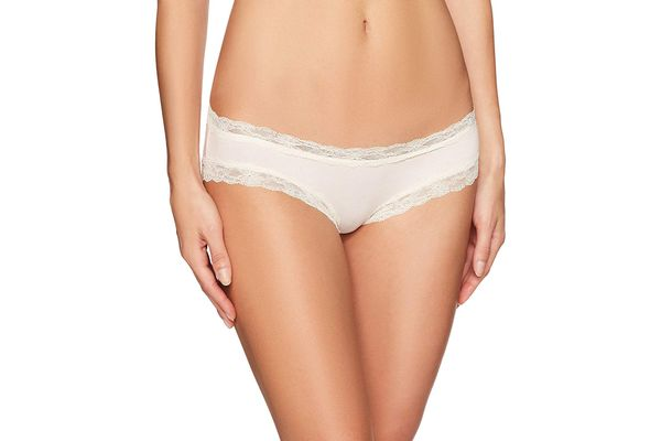 Mae Women's Super Soft Cotton Hipster With Lace, 3 Pack