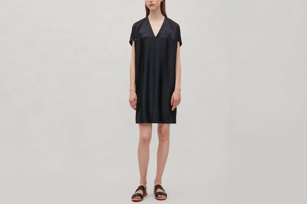 COS Oversized V-Neck Dress