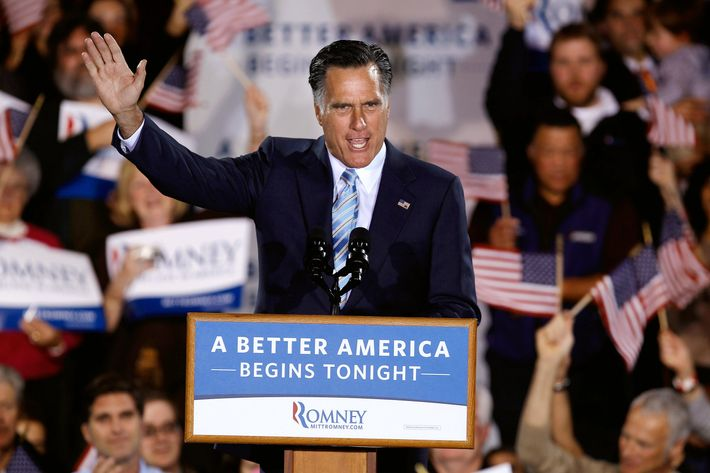 "Republican presidential candidate, former Massachusetts Gov. Mitt Romney addresses supporters during a campaign rally titled ""A Better America Begins Tonight"" at the Radisson Hotel April 24, 2012 in Manchester, New Hampshire. Returning to the state where a January primary victory propelled him to front-runner status, Romney delivered remarks on the day voters in New York, Connecticut, Delaware, Rhode Island and Pennsylvania cast ballots in their state primaries."