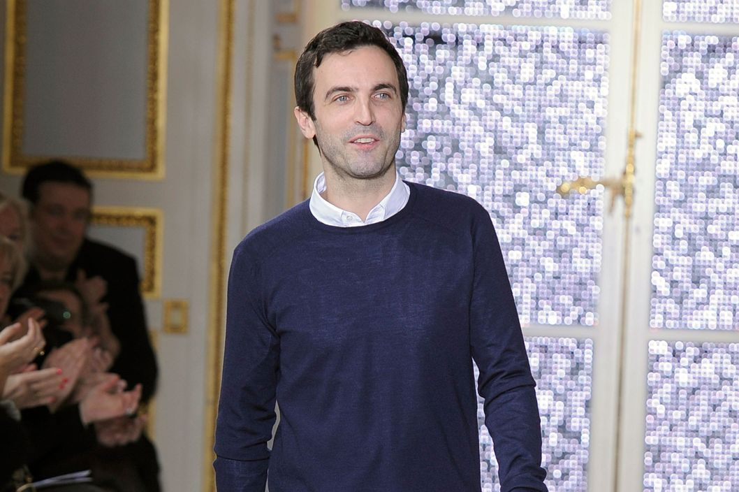 Nicolas Ghesquiere on the runway at the Balenciaga fashion show during Paris Fashion Week on March 3, 2011 in Paris, France.