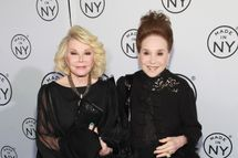 TV personalities Joan Rivers and Cindy Adams attend the 2012 Made In NY Awards at Gracie Mansion on June 4, 2012 in New York City.