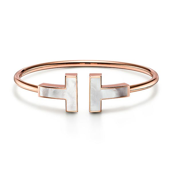 Tiffany T Large Mother-of-pearl Wire Bracelet