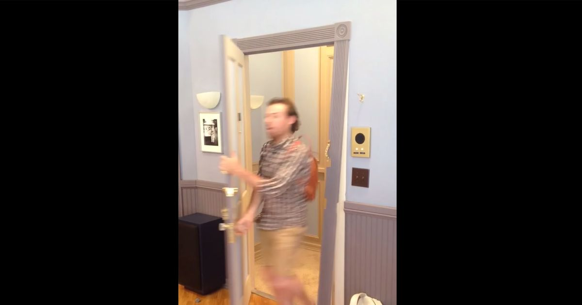 & Man Breaks Replica Seinfeld Door by Kramer-ing -- Vulture