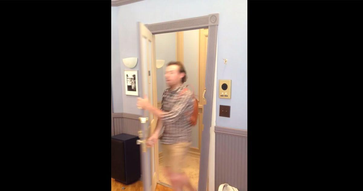 & Man Breaks Replica Seinfeld Door by Kramer-ing -- Vulture