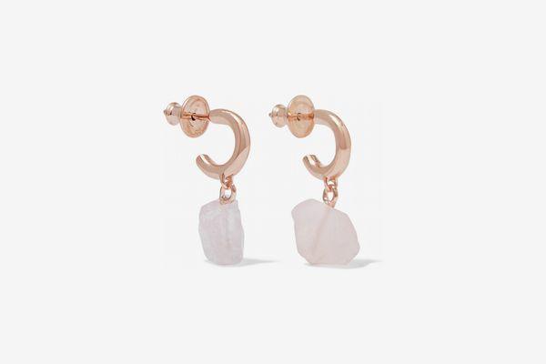 Monica Vinader Caroline Issa Rose Gold Vermeil Earrings