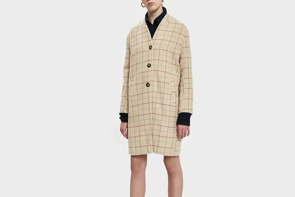 Check Cocoon Coat