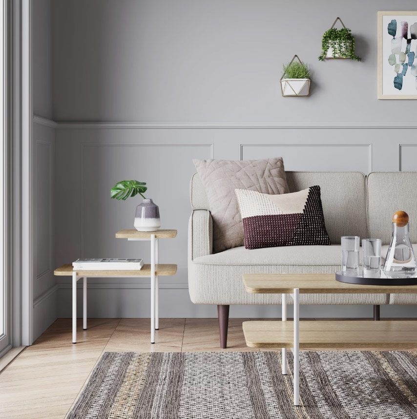 Project 62 Mandelin Wood/Metal Side Table