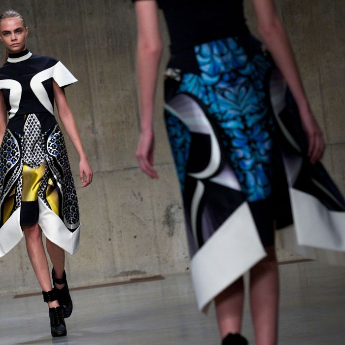 Peter Pilotto's fall 2013 collection.