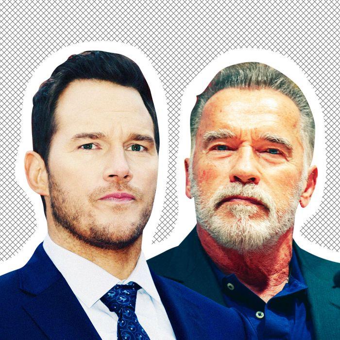 Chris Pratt, Arnold Schwarzenegger.