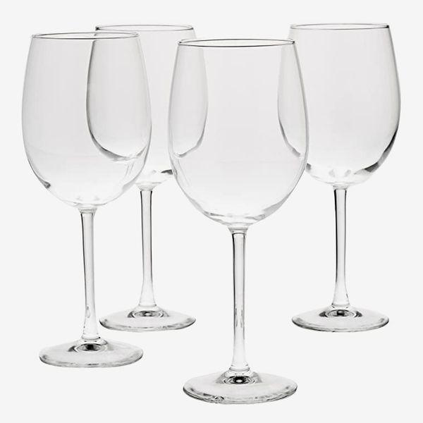 AmazonBasics All-Purpose Wine Glasses, Set of Four