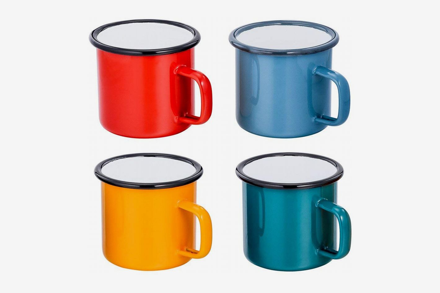 TeamFar Enamel Coffee Mug Set