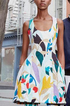 Floral Molded Seam Dress